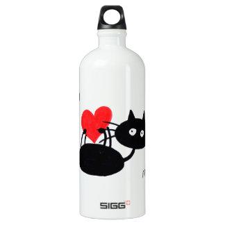 Cartoon Black Cat and red heart SIGG Traveler 1.0L Water Bottle