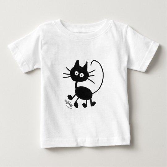 Cartoon Black Cat Baby T-Shirt