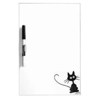 Cartoon Black Cat Dry-Erase Board
