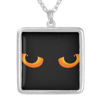 Cartoon Black Cat Eyes Necklace