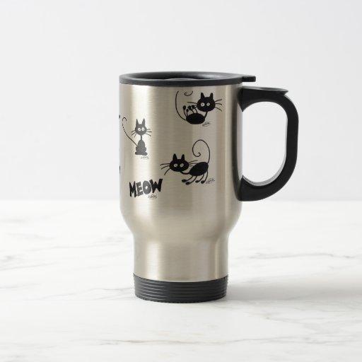 Cartoon Black Cat Coffee Mugs