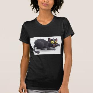 Cartoon Black Cat Tees