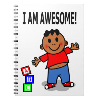 Cartoon Black Kid Positive Image Notebook