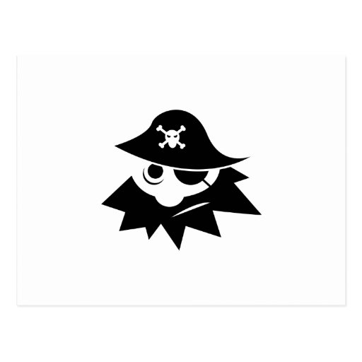 Cartoon Blackbeard Pirate Postcard