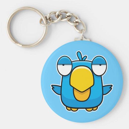 Cartoon Blue Bird Keychains