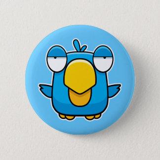 Cartoon Blue Bird Pinback Button