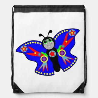 cartoon blue butterfly superhero backpack