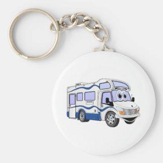 Cartoon Blue Camper Keychain