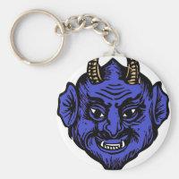 Cartoon Blue Devil Keychain