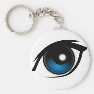 Cartoon blue eye keychain