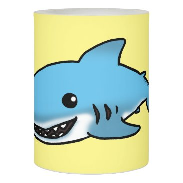 Beach Themed cartoon blue shark flameless candle