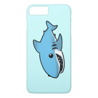 cartoon blue shark iPhone 7 plus case