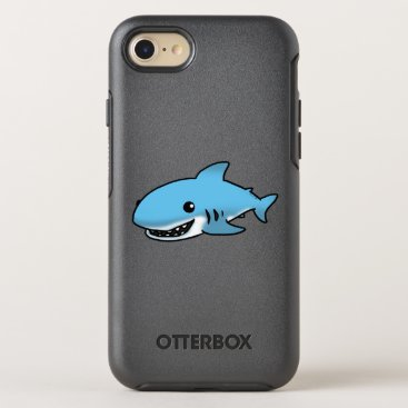Beach Themed cartoon blue shark OtterBox symmetry iPhone 7 case