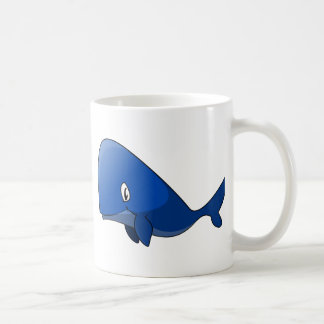 Cartoon Blue Whale Coffee Mug
