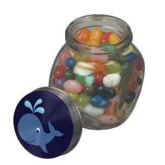 Cartoon Blue Whale Jelly Belly Candy Jar