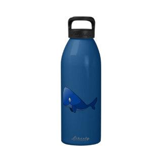 Cartoon Blue Whale Reusable Water Bottle