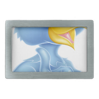 Cartoon Bluebird Mascot Belt Buckles