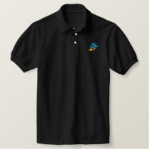 Cartoon Bluejay Embroidered Polo Shirt