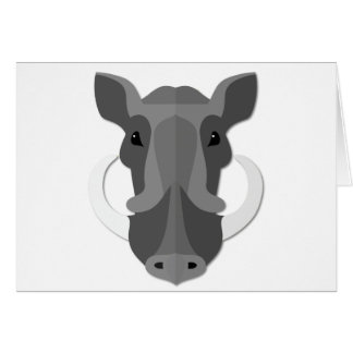 Cartoon Boar Head Cards