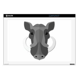 """Cartoon Boar Head 17"""" Laptop Skin"""