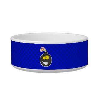 Cartoon Bomb; Blue Cat Water Bowl