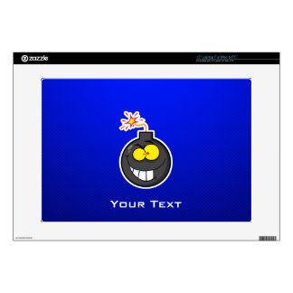 "Cartoon Bomb; Blue Decals For 15"" Laptops"