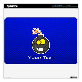 "Cartoon Bomb; Blue 11"" MacBook Air Decal"