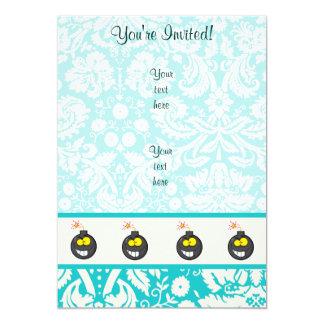 Cartoon Bomb; Cute Card