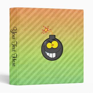 Cartoon Bomb design Binder