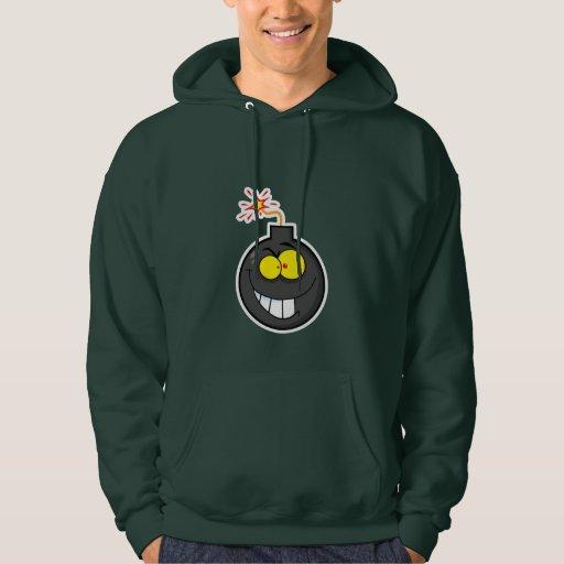 Cartoon Bomb; Green Hoodie