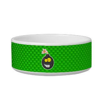 Cartoon Bomb; Green Pet Bowls
