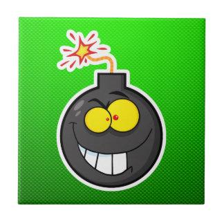 Cartoon Bomb; Green Tile