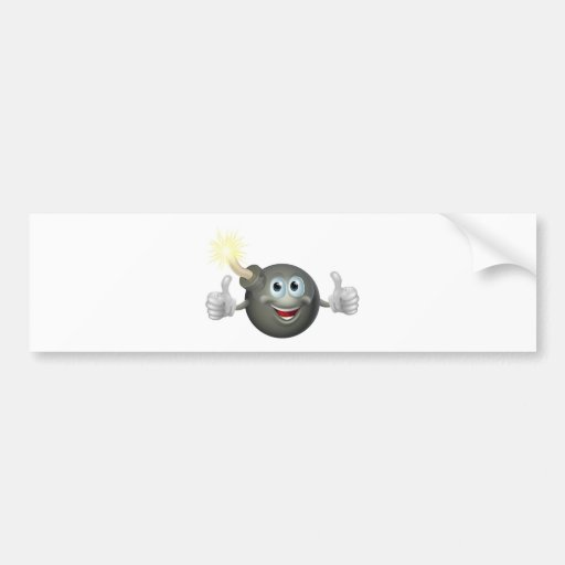 Cartoon bomb man bumper sticker