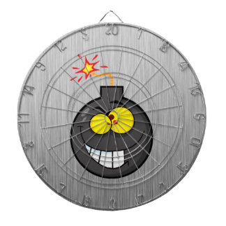 Cartoon Bomb; Metal-look Dart Board