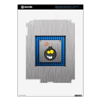 Cartoon Bomb; Metal-look iPad 3 Decal
