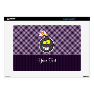 "Cartoon Bomb; Purple 15"" Laptop Skins"