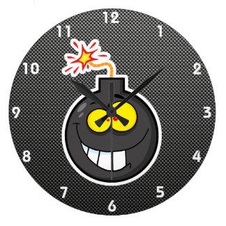 Cartoon Bomb; Sleek Wall Clock