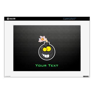 "Cartoon Bomb; Sleek Decal For 15"" Laptop"