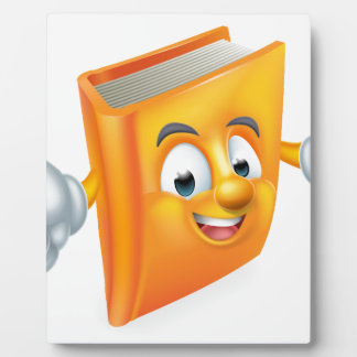 Cartoon Book Mascot Plaque