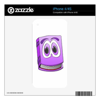 Cartoon Book Purple.png iPhone 4S Decals