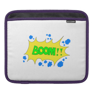 Cartoon Boom Sign Sleeves For iPads