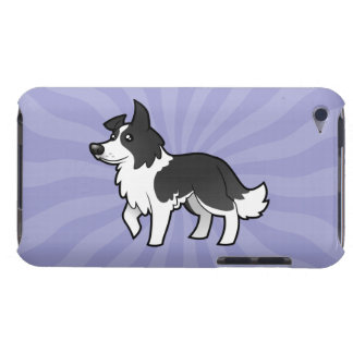 Cartoon Border Collie Barely There iPod Case