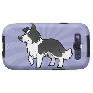 Cartoon Border Collie Samsung Galaxy S3 Cases