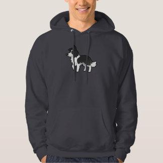 Cartoon Border Collie Hooded Sweatshirts