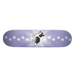 Cartoon Border Collie Skateboard