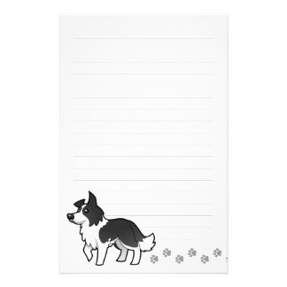 Cartoon Border Collie Stationery