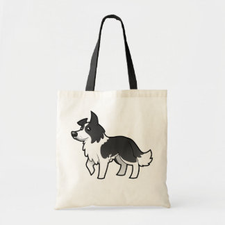 Cartoon Border Collie Tote Bag