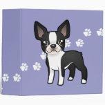 Cartoon Boston Terrier Binder