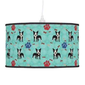 Cartoon Boston Terrier Ceiling Lamp