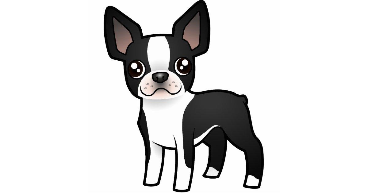 Cartoon Boston Terrier Cutout Zazzle Com